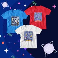 Kaos Anak Space Luar Angkasa Astronot - S, Merah GALACTIC