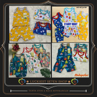Velvet junior setelan oblong kutung celana pendek baju anak bayi motif
