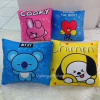 Bantal Boneka Kotak BTS BT21 Chimmy Mang Tata Koya Cooky Shooky Kpop