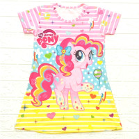 dress anak full print UNICORN LITTLE PONY DIGITA PRINTING U/A 1-10 THN - Little Balon, S