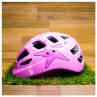 Helm Sepeda Anak - Kids Cycling Helmet - Star - Merah Muda