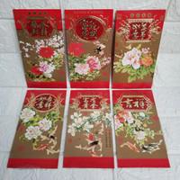 Amplop angpao hongbao besar ulang tahun imlek cny bunga ikan