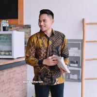 baju kemeja batik pria lengan panjang modern pesta kantor seragam ARJ4