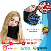 Bantal Selimut Leher Travel Neck Pillow Sender Penahan Kepala Tidur