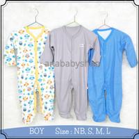 3pcs baju jumper sleepsuit tutup kaki bayi laki laki 0 3 6 12 16 bulan