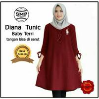 Baju Wanita/DIANA TUNIC JUMBO Baju Atasan Tunik Jumbo Muslim Model