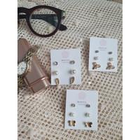 Anting Fashion Wanita Gold SF 3Pairs [Lucu/Unik/Cute/Cantik]-BC0000073