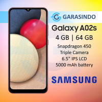 Samsung Galaxy A02S 4/64 GB 4GB 64GB Garansi Resmi SEIN