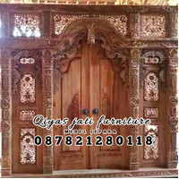 set pintu rumah bahan kayu jati TIPE GEBYOK UKURAN 250x270CM