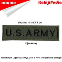 Patch bordir emblem bordir badge us army 11cm hijau army