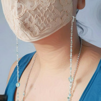 rantai masker premium (swarovski+aqua marine)