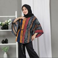 Atasan Wanita Tenun Etnik Blanket model kelelawar