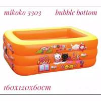Kolam Renang Anak 2in1/ Kids Pool Plus Pompa/ 160CM BONUS POMPA MIKOKO - Oren Free Pompa