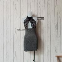 K211055 Sexy Lingerie Hitam Dress - Baju Tidur Tipis Transparan Wanita