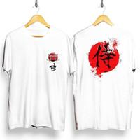 MS - BF058 Kaos Distro Pria T-Shirt Pria Kaos Pria samurai Jepang