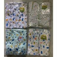 Baju Bayi Motif Lengan Pendek Katun SNI 6pcs