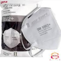 Masker N95 KN95 3M 9502 + Headloop Hijab Original Medis Anti Virus ORI
