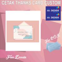 Thank You Card Custom toko mr DEDEN 100pcs Free Desain