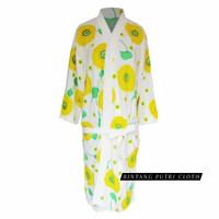 kimono handuk dewasa motif bunga matahari import | baju handuk import - pink, All Size