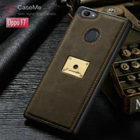 Case Oppo F7 Leather Caseme Bumper Soft Case Back Cover Tpu - Coffee