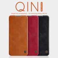 Flip Cover Nillkin Qin Leather Samsung Galaxy A42 5G Original Casing