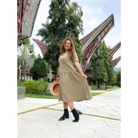 VNV Pakaian Dress Wanita Christy - Hijau, Freesize