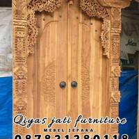 set pintu rumah bahan kayu jati TIPE GEBYOK UKURAN 130x250