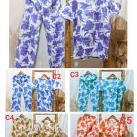Setelan Wanita Celana Panjang Motif Batik Gogo Baju Tidur Piyama | BUS