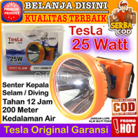 Senter Kepala Selam Tesla 25 Watt Diving LED Super Terang TLKS-2551