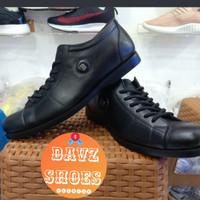 sepatu pria boots kulit asli semi pantofel bally-2001 hitam