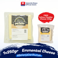 Perfetto Emmental Cheese 250gr FREE Yellow Cheddar Cheese 250 gr