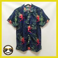 Baju Kemeja Motif / Kemeja Hawai / Printing Import Blood Flowers - L