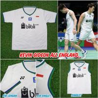 Jersey baju badminton yonex All England grade ori import Premium