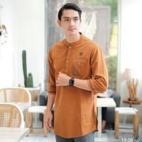 baju muslim pria / baju koko pria / baju kurta pria - mustard, M
