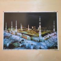 kaligrafi poster nabawi madinah kabah Masjidil haram uk 98 x 68 cm - nabawi malam, 98 x 68 cm