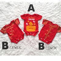 Baju Imlek Anak bayi laki Cheongsam 0 1 2 3 4 5 6 7 8 9 10 11 bulan