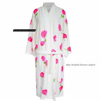 baju kimono hamduk motif kembang jepang | kimono handuk dewasa import