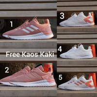 Adidas Questar size 36 - 40 sepatu wanita olahraga sport pink putih