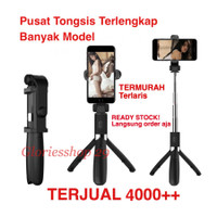Tongsis Bluetooth Selfie Stick Remote Bluetooth Tripod Expandable L01