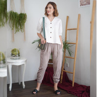 Erica Blouse Beatrice Clothing - Blouse Wanita - White
