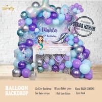 Balloon Decor - Backdrop Balon Ulang Tahun - Banner - Girl