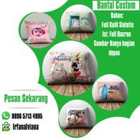 Bantal Foto Gambar Custom Souvenir Hadiah Kado Ulang Tahun Pernikahan - 35X30