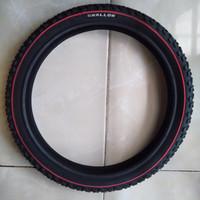 Ban Luar Sepeda Swallow ukuran 16 x 1.75 hitam garis merah