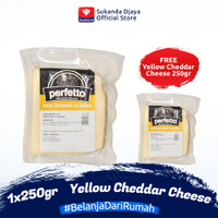 Perfetto Yellow Cheddar Cheese 250 gr Buy 1 Get 1 Free