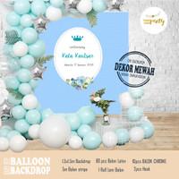 Balloon Decor - Backdrop Balon Ulang Tahun/Akikah/Baby