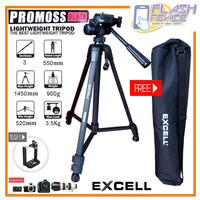 Tripod Excell Promoss Black Free Holder HP + Tas - New