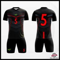 Baju kaos Jersey Bola Setelan Futsal Motif Batik Free Nickname