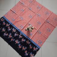 kain batik printing trusmi cirebon bahan katun motif ayam