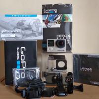 Gopro Hero 4 black like new full set banyak bonus
