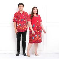 dress batik super jumbo imlek/baju imlek/baju batik brokat imlek